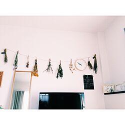 壁/天井/手作り/一人暮らし/ナチュラル/ハンドメイド...などのインテリア実例 - 2016-07-25 09:51:05
