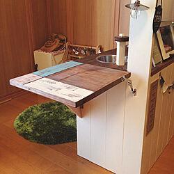 キッチン/折りたたみ式/レジカウンターDIY/お気に入り/DIY家具...などのインテリア実例 - 2017-08-08 22:05:44