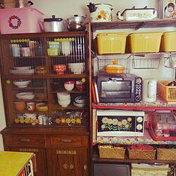 キッチン/IKEA/食器棚/レトロ/ニトリ...などのインテリア実例 - 2017-02-03 12:24:26