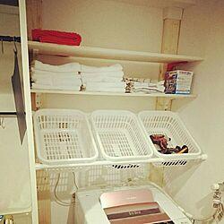 洗濯機周り/IKEA/ディアウォール/突っ張り棒/ミニキッチンのインテリア実例 - 2016-04-30 22:23:45