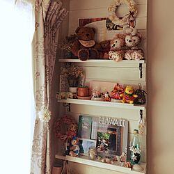 棚/テディベア/ダッフィー&シェリーメイ/ハワイの想い出/ハロウィン雑貨...などのインテリア実例 - 2015-09-23 09:58:36