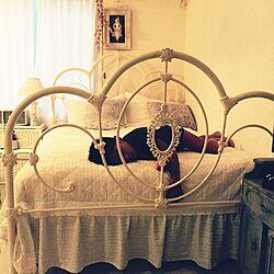 ベッド周り/ベッド汚される/汗臭い息子/シャンデリア/ローラアシュレイ...などのインテリア実例 - 2015-08-24 18:28:52