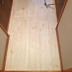 玄関/入り口/DIY/フロアタイルのインテリア実例 - 2013-12-19 18:08:18