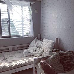 ニトリ♡/ニトリのクッションカバー/姉妹部屋/夏休み/いつもありがとうございます♡...などのインテリア実例 - 2020-08-08 16:58:12