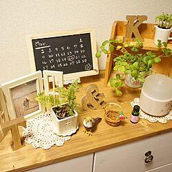 リビング/小鳥/レース/黒板/natural kitchen...などのインテリア実例 - 2015-03-03 00:20:53