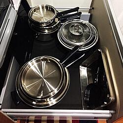 キッチン/お鍋収納/お鍋セット/キッチン収納/シンプルのインテリア実例 - 2017-09-11 14:17:55