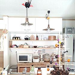 ハロウィン/IKEA/ラタンボックス/キッチン棚/北欧雑貨...などのインテリア実例 - 2018-10-16 11:53:55