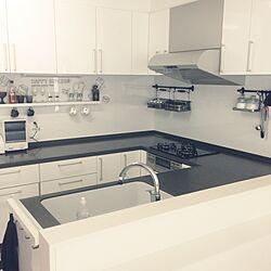 キッチン/モノクロ/モノトーン/白黒/IKEA...などのインテリア実例 - 2014-06-21 09:28:50