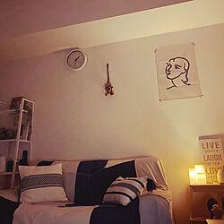 ファブリックポスター/ホワイトインテリア/ラグ/北欧/アジア工房...などのインテリア実例 - 2020-09-02 01:30:51