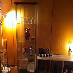 棚/間接照明/ベアブリック/ガラスケース/IKEAのインテリア実例 - 2013-10-07 01:10:26