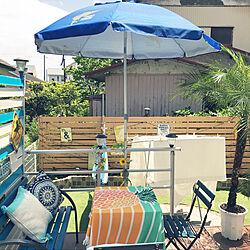 青/ビーチパラソル/西海岸風 インテリア/青が好き/ハワイ...などのインテリア実例 - 2020-05-24 12:49:29