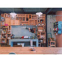 キッチン/コンクリートキッチン/生活感/箱箱箱/リノベーション物件...などのインテリア実例 - 2015-05-01 12:07:47