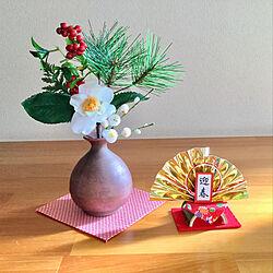 棚/今年一年ありがとうございました♡/セリア/お正月ディスプレイ/お正月...などのインテリア実例 - 2018-12-30 14:28:07