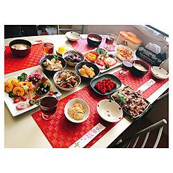 たち吉/角皿/赤色/お皿のおせち料理/おせち料理...などのインテリア実例 - 2020-01-02 01:51:49