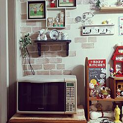 キッチン/モニター応募投稿/スヌーピー愛が止まらない/雑貨/棚DIY...などのインテリア実例 - 2021-03-27 21:32:18
