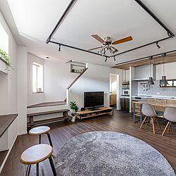 変形地/無垢の床/こどものいる暮らし/お部屋を広く使う/スペースを生かす...などのインテリア実例 - 2020-02-29 15:27:36