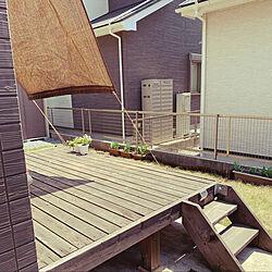 ウッドデッキ/シェード/お庭/玄関/入り口のインテリア実例 - 2020-05-01 11:47:07