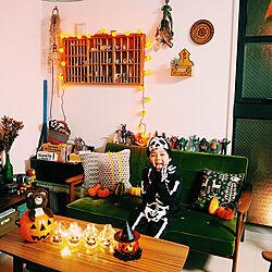 リビング/ガーランドライト/ハロウィン/かぼちゃ/インスタと同じpic...などのインテリア実例 - 2017-10-29 19:55:39