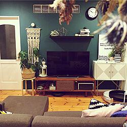 壁紙ペイント/Francfranc/ブラウンインテリア/IKEA/リビングのインテリア実例 - 2019-08-12 11:13:13