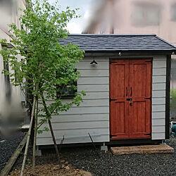 玄関/入り口/シンボルツリー/一人暮らし/小屋DIY /猫と暮らす。...などのインテリア実例 - 2021-05-21 18:47:22