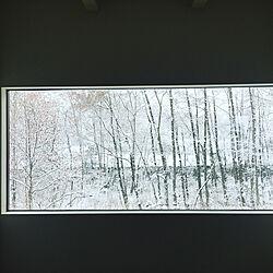 部屋全体/窓/裏庭/雪景色/FIX窓...などのインテリア実例 - 2018-01-25 01:56:13