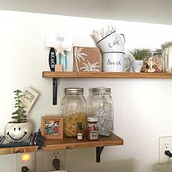 キッチン/ブライワックス/海を感じるインテリア/パパ作/DIY...などのインテリア実例 - 2017-06-20 23:44:51