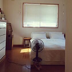 ベッド周り/二人暮し/扇風機のインテリア実例 - 2014-08-05 09:02:17
