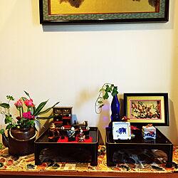 梅とウグイスのシャドウボックス/副島硝子/肥前びーどろ/手作りお雛様/福泉窯...などのインテリア実例 - 2019-02-26 19:11:35