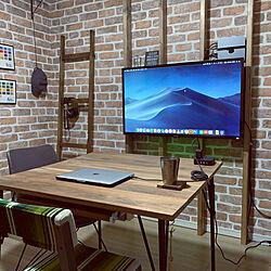 机/2×4材/壁掛け/PCモニター/DIY...などのインテリア実例 - 2020-01-05 23:07:12