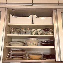 キッチン/収納/整理整頓/食器棚収納/食器棚の中...などのインテリア実例 - 2017-02-26 12:40:35