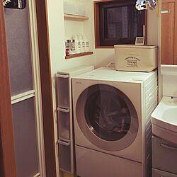バス/トイレ/ホワイトボトル/キューブル/洗濯機周り/ダイソー...などのインテリア実例 - 2017-05-28 21:49:31