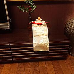 リビング/木で出来てる鏡餅/猪/干支の置物/お正月...などのインテリア実例 - 2019-01-01 20:31:13