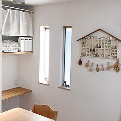 壁/天井/100均DIY/ガーランド/お家型シェルフ/セリア...などのインテリア実例 - 2019-02-02 09:51:08