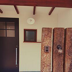 玄関/入り口/船舶照明/枕木門柱のインテリア実例 - 2017-04-29 12:13:53