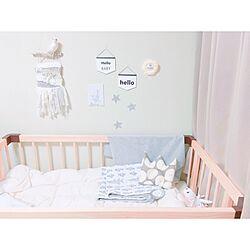 ベッド周り/手作り/子供部屋/ベビーベッドのインテリア実例 - 2016-04-16 18:41:44