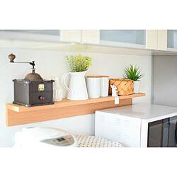 キッチン/北欧/ナチュラル/無印良品/壁に付けられる家具...などのインテリア実例 - 2016-03-22 13:41:45