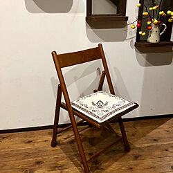 リビング/折りたたみ椅子/無印良品/アンティーク/北欧...などのインテリア実例 - 2018-10-13 08:01:27