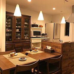 キッチン/家電収納/食器棚/オーデリック照明/腰壁...などのインテリア実例 - 2018-01-28 20:42:09