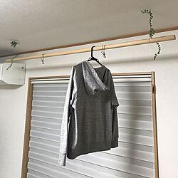 部屋干しスペース/おしゃれな家にしたい/DIY/ナチュラル/リビングのインテリア実例 - 2019-07-04 22:41:37