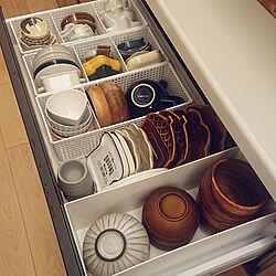 食器棚/小皿収納/100均/LIXIL/ライトグレイン...などのインテリア実例 - 2020-08-12 18:57:36