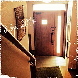 玄関/入り口/年寄りやからお許しを♡/いきなり平仮名にもなっちゃいます。/自動的に(♡♡ちゃん)に変換されます。/気をつけて‼のインテリア実例 - 2014-09-08 11:22:21