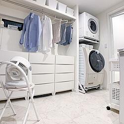洗濯カゴ/衣装ケース/脱衣場/洗面所/洗濯機...などのインテリア実例 - 2021-04-18 22:29:32