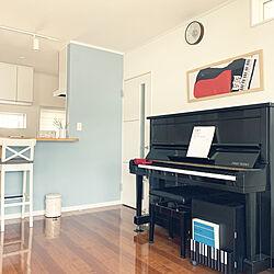 音楽のある暮らし/ブルーグレーの壁/ピアノがある部屋/スワンレイク/IKEA...などのインテリア実例 - 2020-06-20 09:28:52