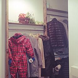 玄関/入り口/コートハンガー/ディアウォール/DIY/ハンガーラックのインテリア実例 - 2018-01-17 13:01:25