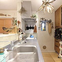 キッチン/DIY/流木インテリア/流木/西海岸インテリア...などのインテリア実例 - 2019-01-23 21:30:10