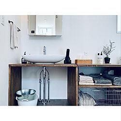 洗面所/平家で暮らす/観葉植物/植物のある暮らし/ねこと暮らす...などのインテリア実例 - 2020-04-10 02:13:31