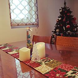 リビング/クリスマス/クリスマス仕様に/クリスマスツリー150cm/100均...などのインテリア実例 - 2017-11-18 16:15:00