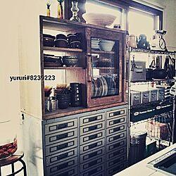キッチン/リメイク/収納/食器棚/DIY...などのインテリア実例 - 2014-08-04 10:35:38