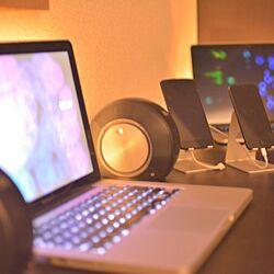 机/Macのある部屋/IKEA LEDライト/iPhone5s/iPhoneスタンド...などのインテリア実例 - 2014-11-16 16:13:16