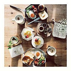 朝食/朝ごはん/ポットマット/手づくり/おうちカフェ...などのインテリア実例 - 2019-01-27 10:04:37